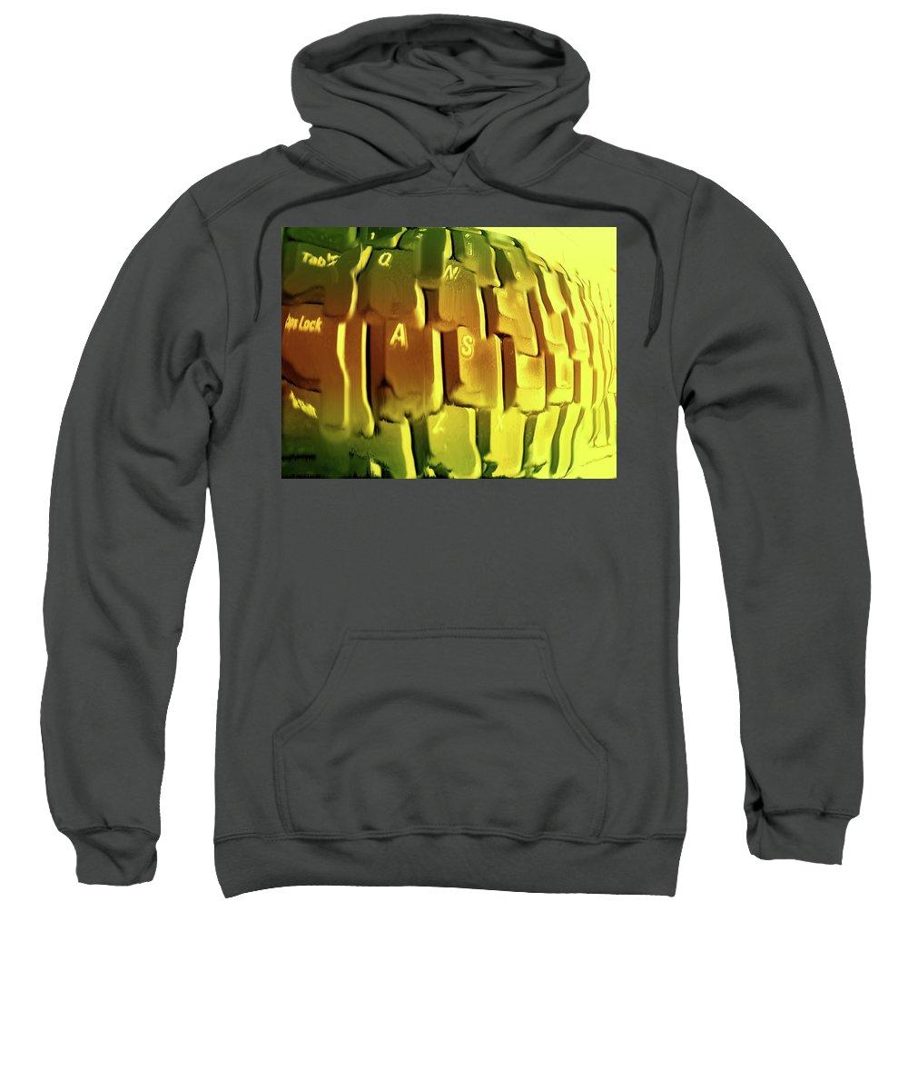Computer Sweatshirt featuring the photograph Keyboard Fried by Ian MacDonald