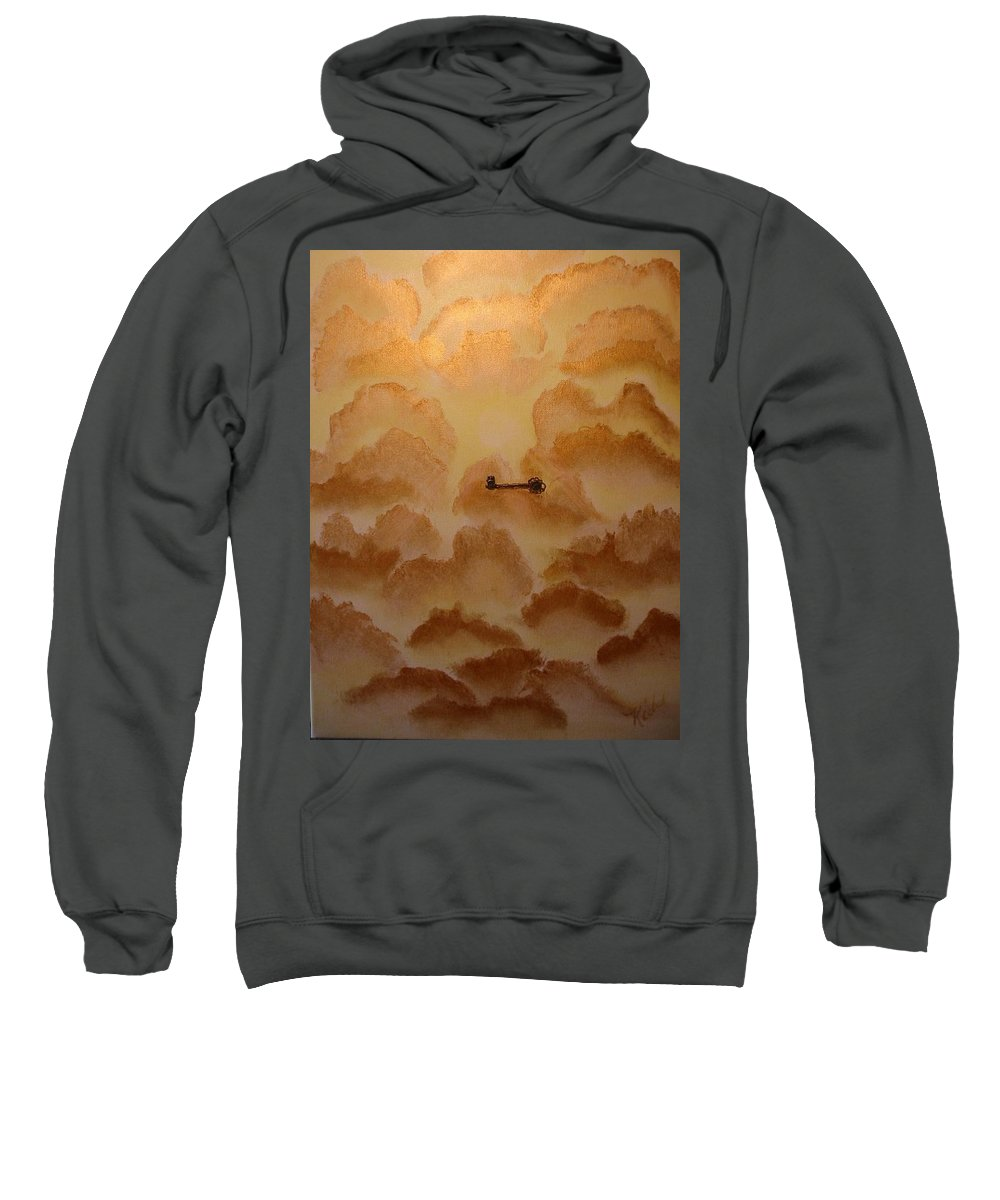 Gold Sweatshirt featuring the painting Keys To The Kingdom by Laurie Kidd