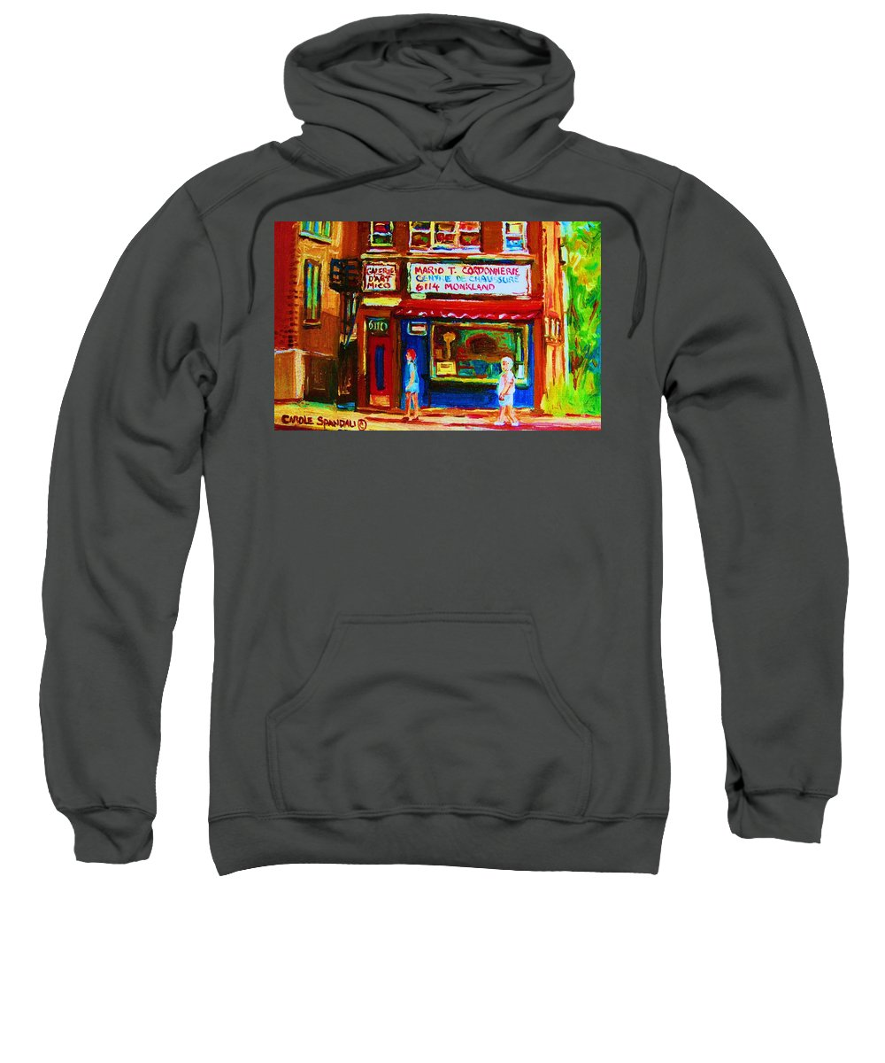 Small Cute Store Sweatshirt featuring the painting Keys To The Summer by Carole Spandau