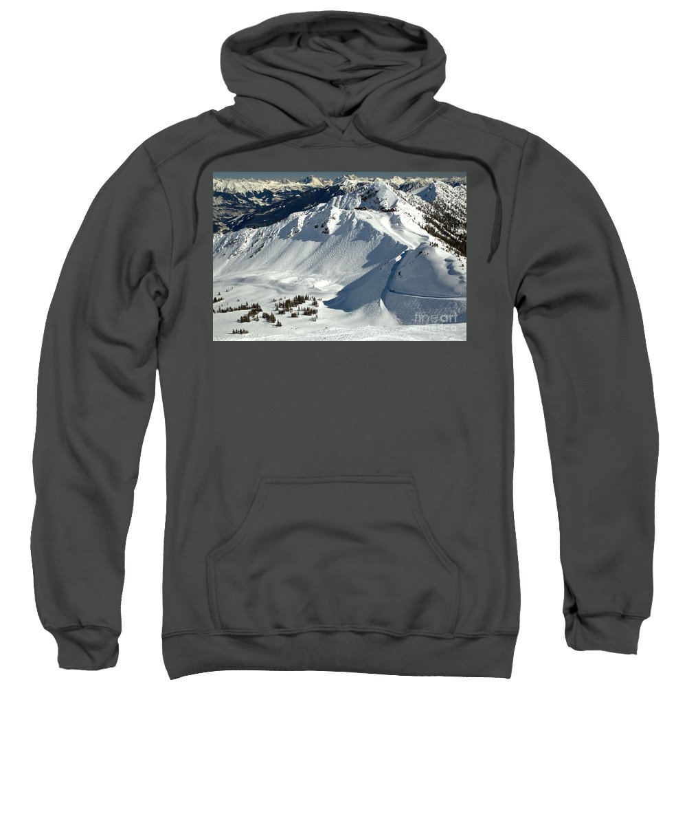 Kicking Horse Sweatshirt featuring the photograph Kicking Horse Endless Extreme Skiing by Adam Jewell