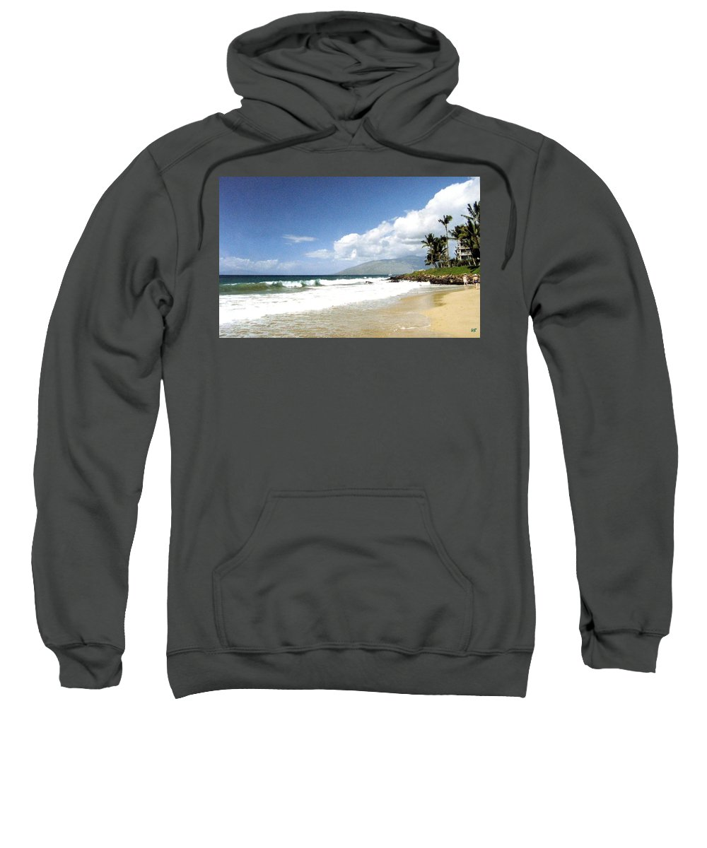 1986 Sweatshirt featuring the photograph Kihei by Will Borden