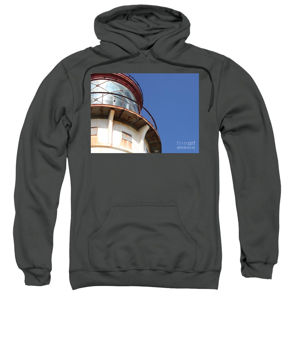 Kilauea Sweatshirt featuring the photograph Kilauea Lighthouse Against The Sky by Nadine Rippelmeyer
