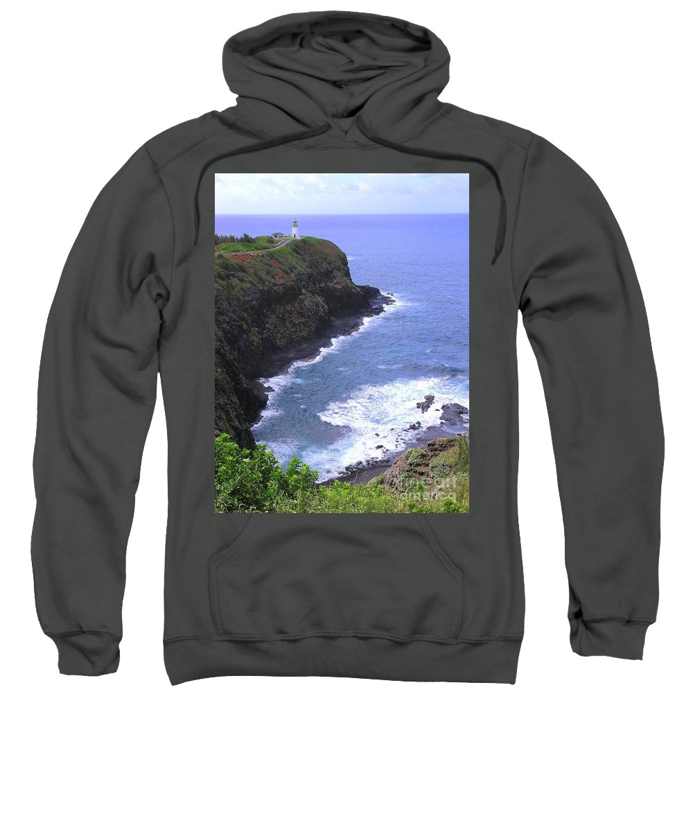Lighthouse Sweatshirt featuring the photograph Kilauea Lighthouse And Bird Sanctuary by Mary Deal