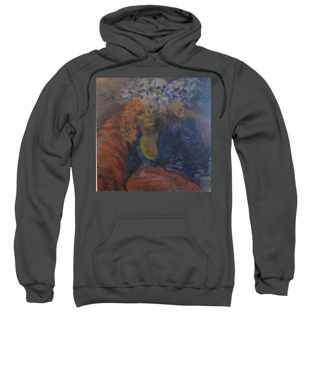 Woman Sweatshirt featuring the painting Killing Me Softly by Connie Freid