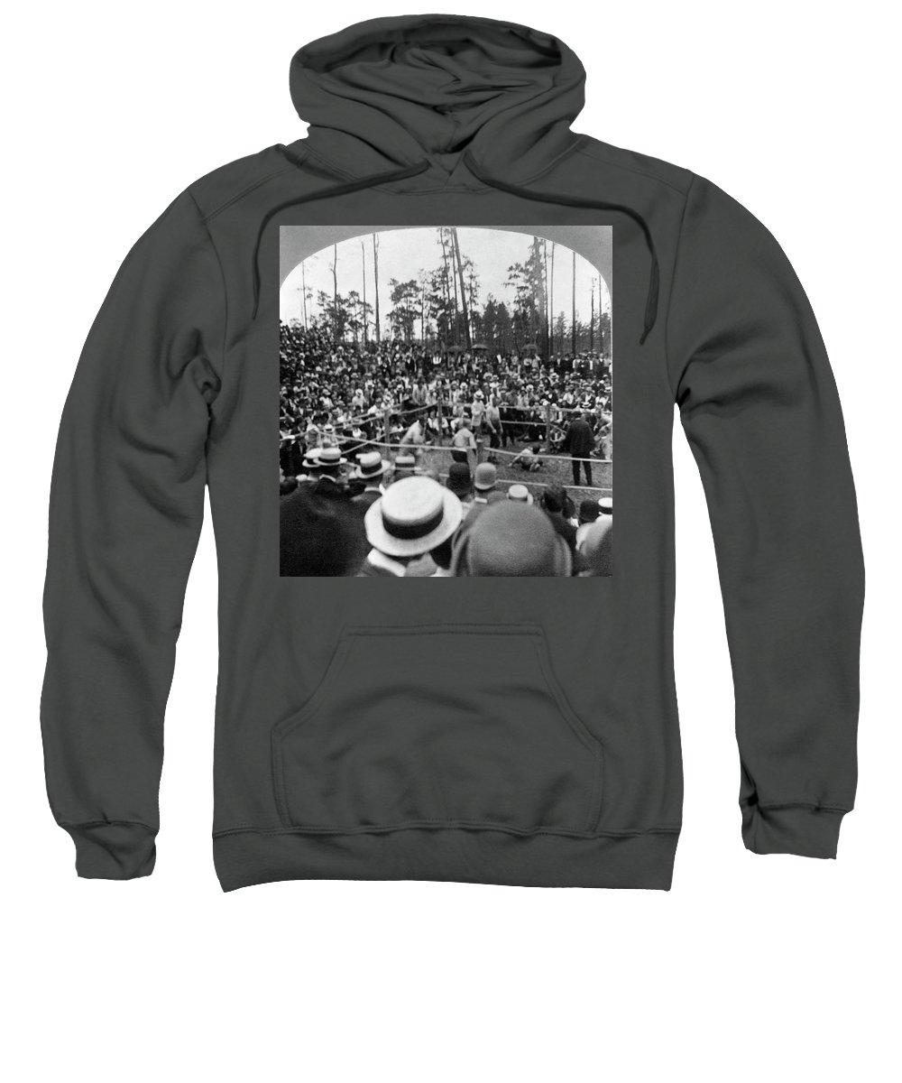 Sweatshirt featuring the photograph Kilrain Vs Sullivan by Granger