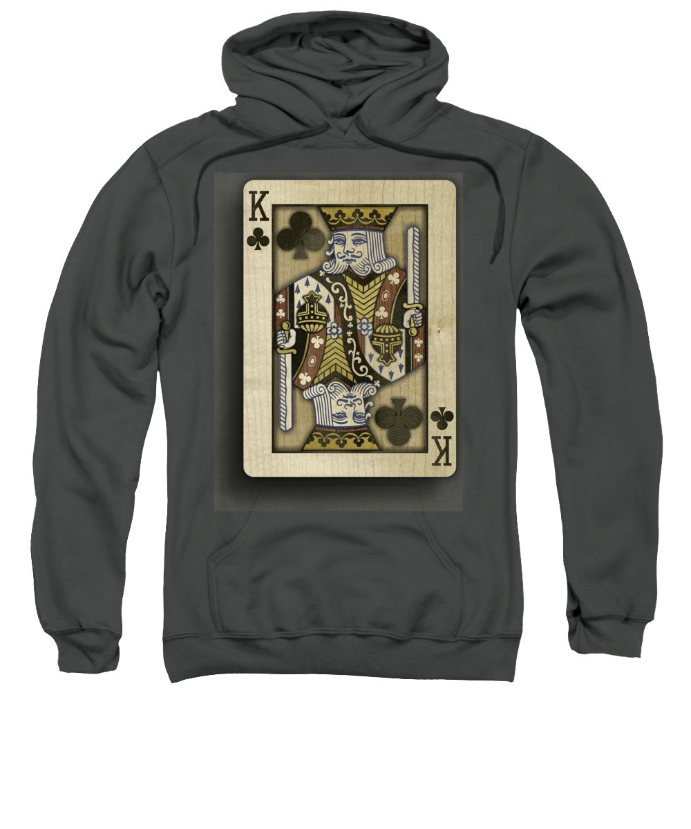 Game Sweatshirt featuring the photograph King Of Clubs In Wood by YoPedro
