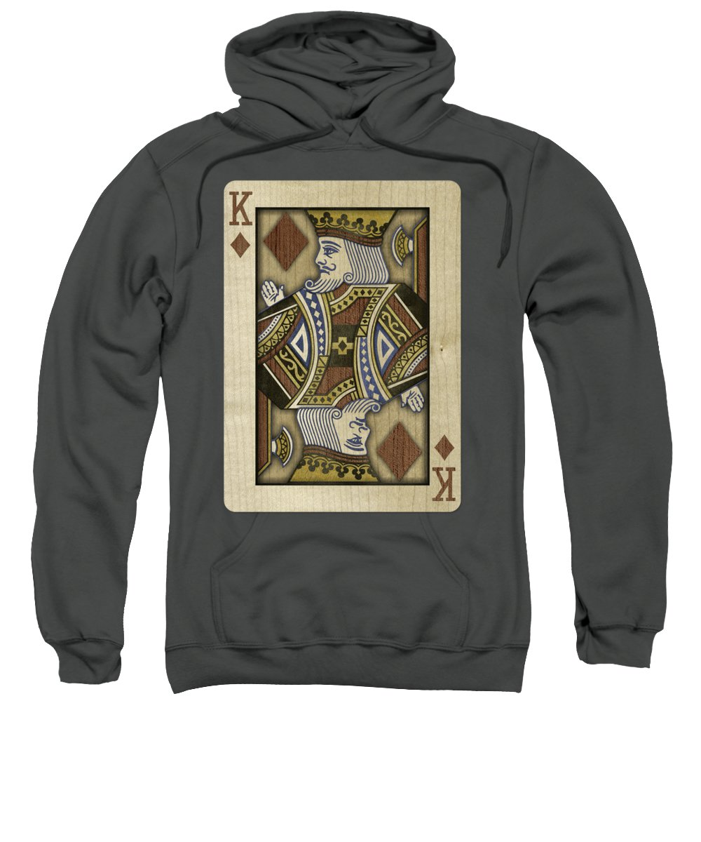 Boards Sweatshirt featuring the photograph King of Diamonds in Wood by YoPedro