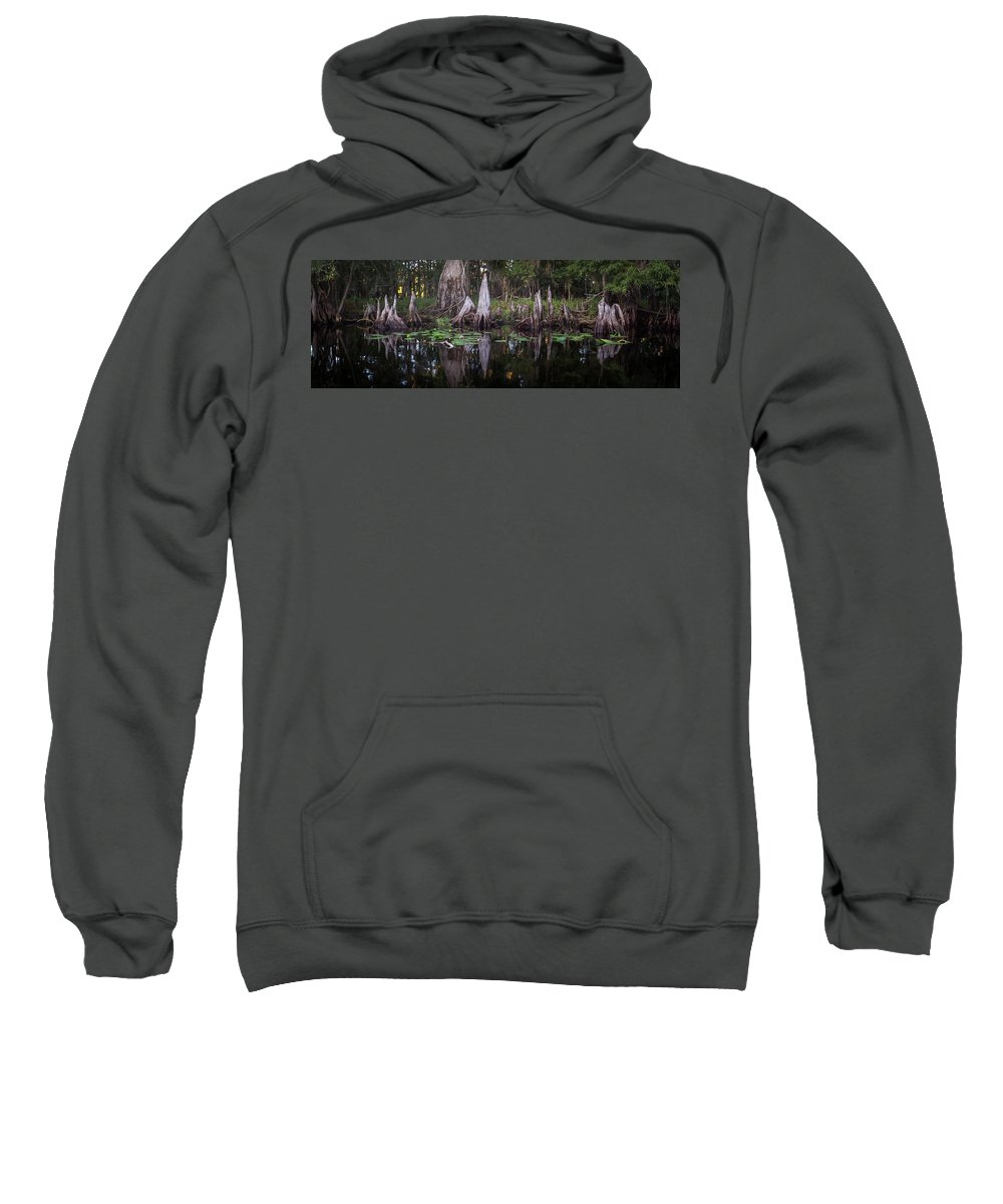 Cypress Sweatshirt featuring the photograph Knees by Charlie Grindrod