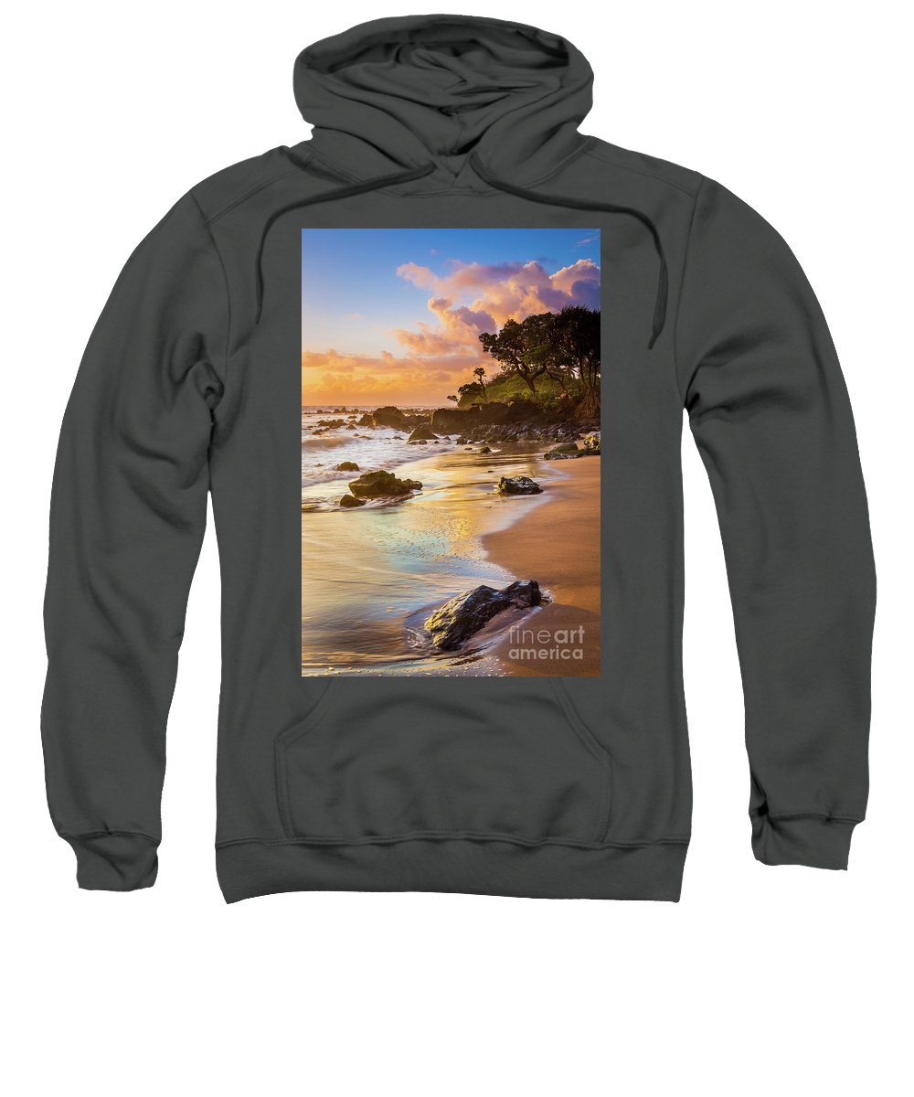 America Sweatshirt featuring the photograph Koki Beach Sunrise by Inge Johnsson