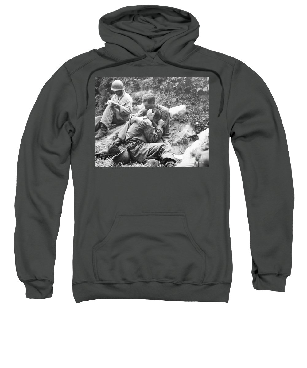 1950 Sweatshirt featuring the photograph Korean War, 1950 by Granger