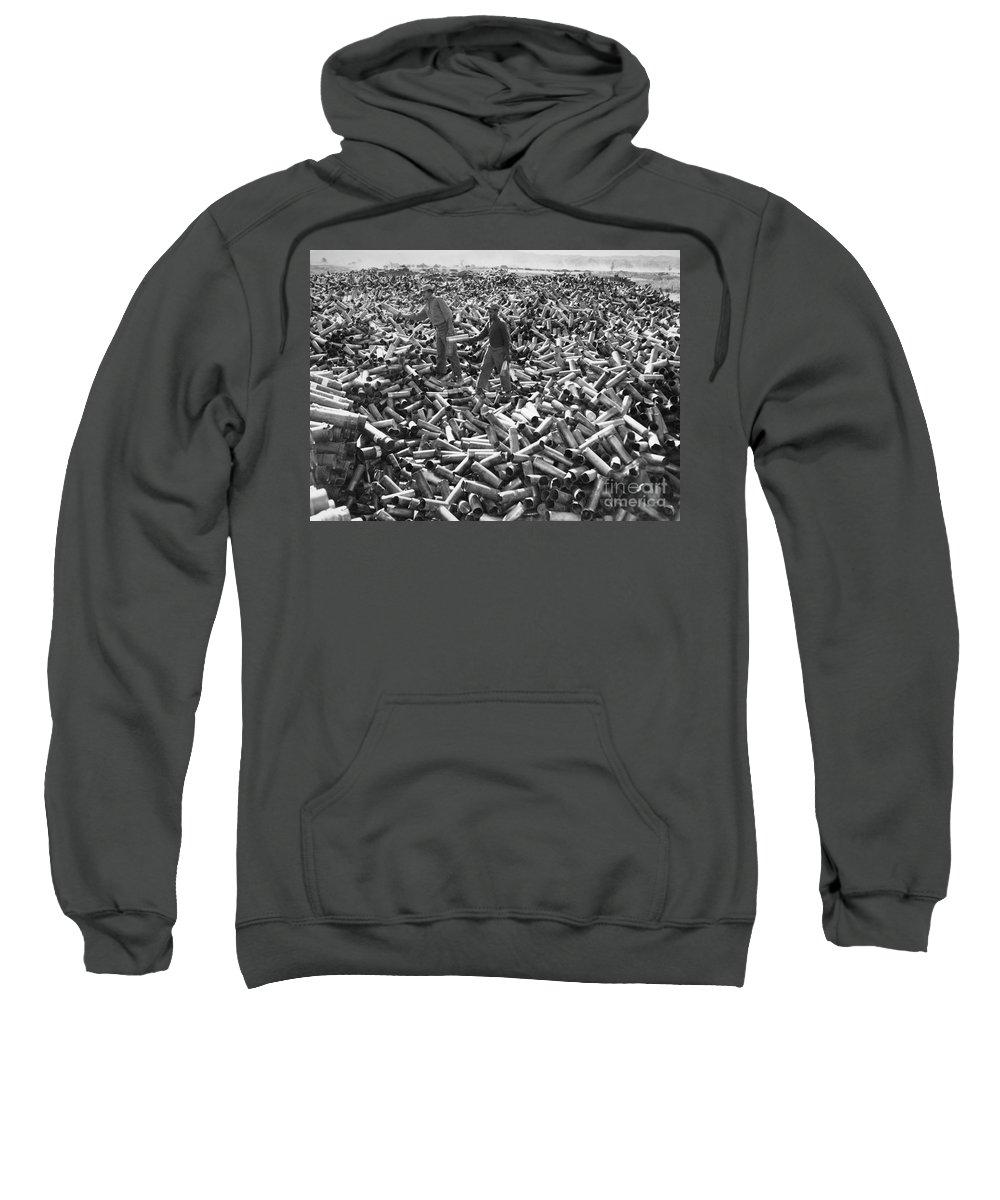 1952 Sweatshirt featuring the photograph Korean War: Shell Casings by Granger