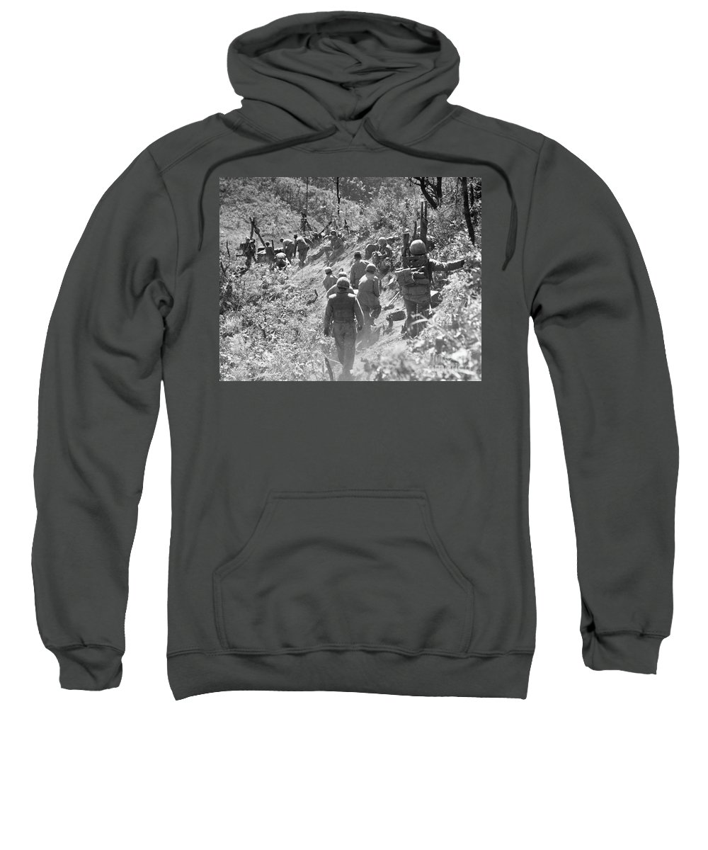 1952 Sweatshirt featuring the photograph Korean War: Triangle Hill by Granger