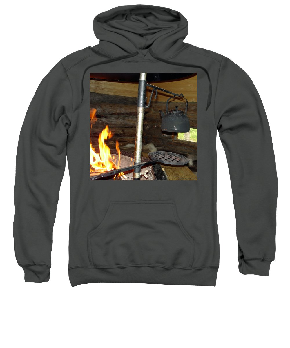 Kota Sweatshirt featuring the photograph Kota Kitchen In Lapland by Merja Waters