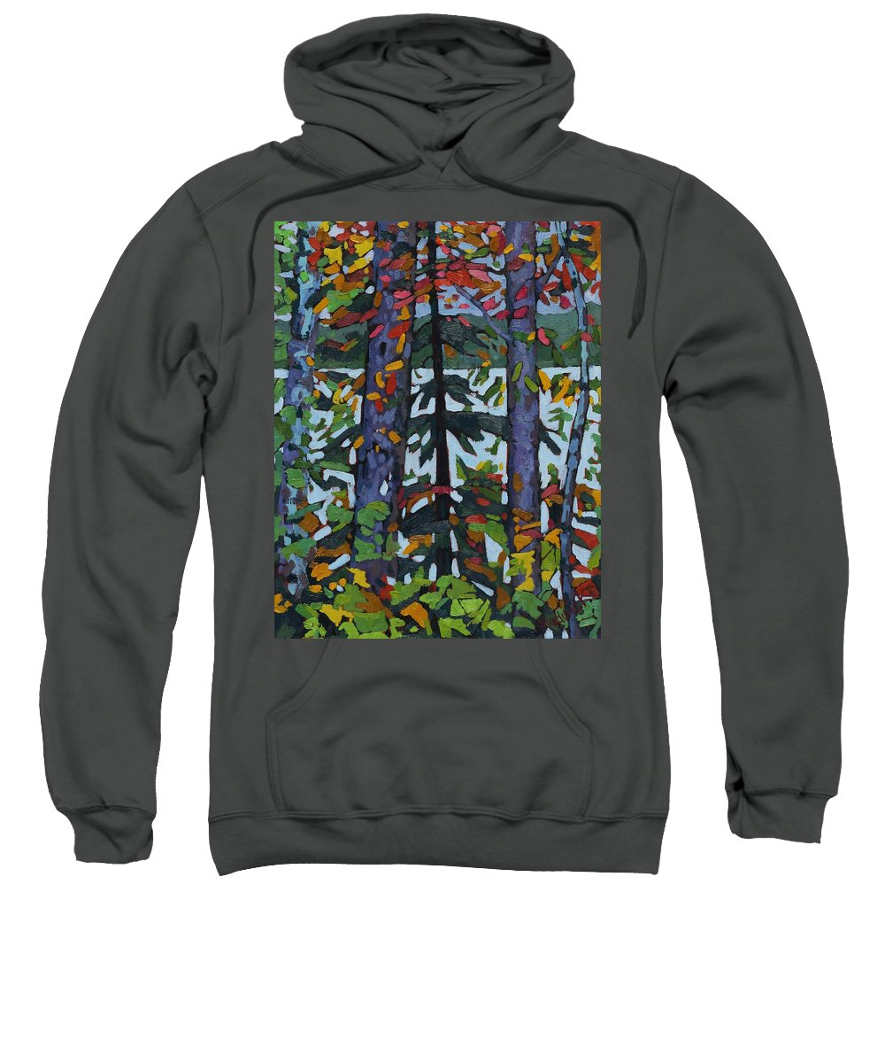 1893 Sweatshirt featuring the painting Kushog Colours by Phil Chadwick