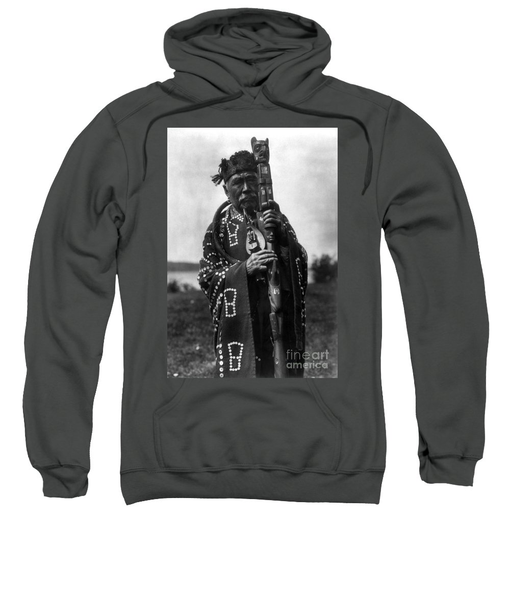 Aod Sweatshirt featuring the photograph Kwakiutl Chief, C1914 by Granger