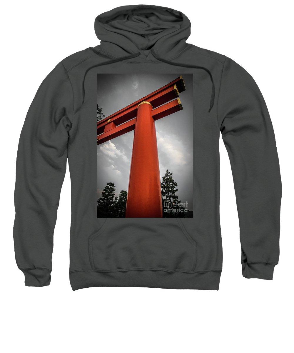 Japan Sweatshirt featuring the photograph Kyoto Torii by Adam Isfendiyar