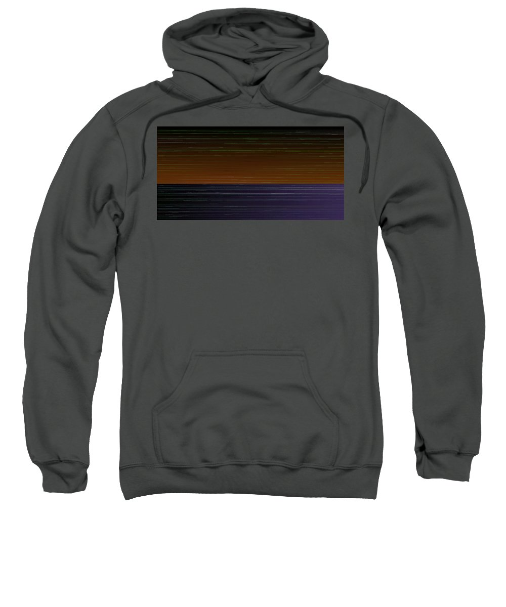 Rithmart Abstract Horizon Land Sky Water Landscape Lake Wind Nature Beatiful Serene Ripples Night Day Evening River Grass Earth Planet Digital Computer Generated Organic Random Iterative Recursive Across Colors Containing Determined Drawn Image Images Lines Made Many One Randomly Sections Sequence Series Shapes Two Using Sweatshirt featuring the digital art L17-26 by Gareth Lewis