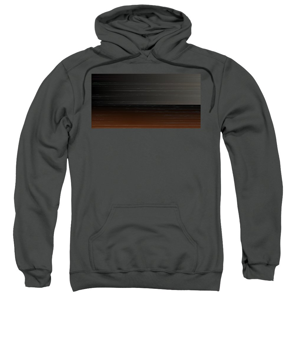 Rithmart Abstract Horizon Land Sky Water Landscape Lake Wind Nature Beatiful Serene Ripples Night Day Evening River Grass Earth Planet Digital Computer Generated Organic Random Iterative Recursive Across Colors Containing Determined Drawn Image Images Lines Made Many One Randomly Sections Sequence Series Shapes Two Using Sweatshirt featuring the digital art L17-39 by Gareth Lewis