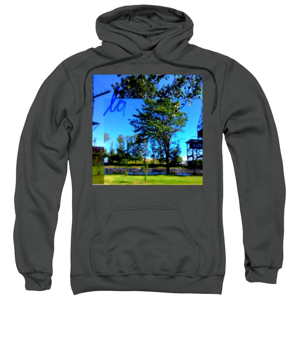 La Sweatshirt featuring the digital art La by Contemporary Luxury Fine Art