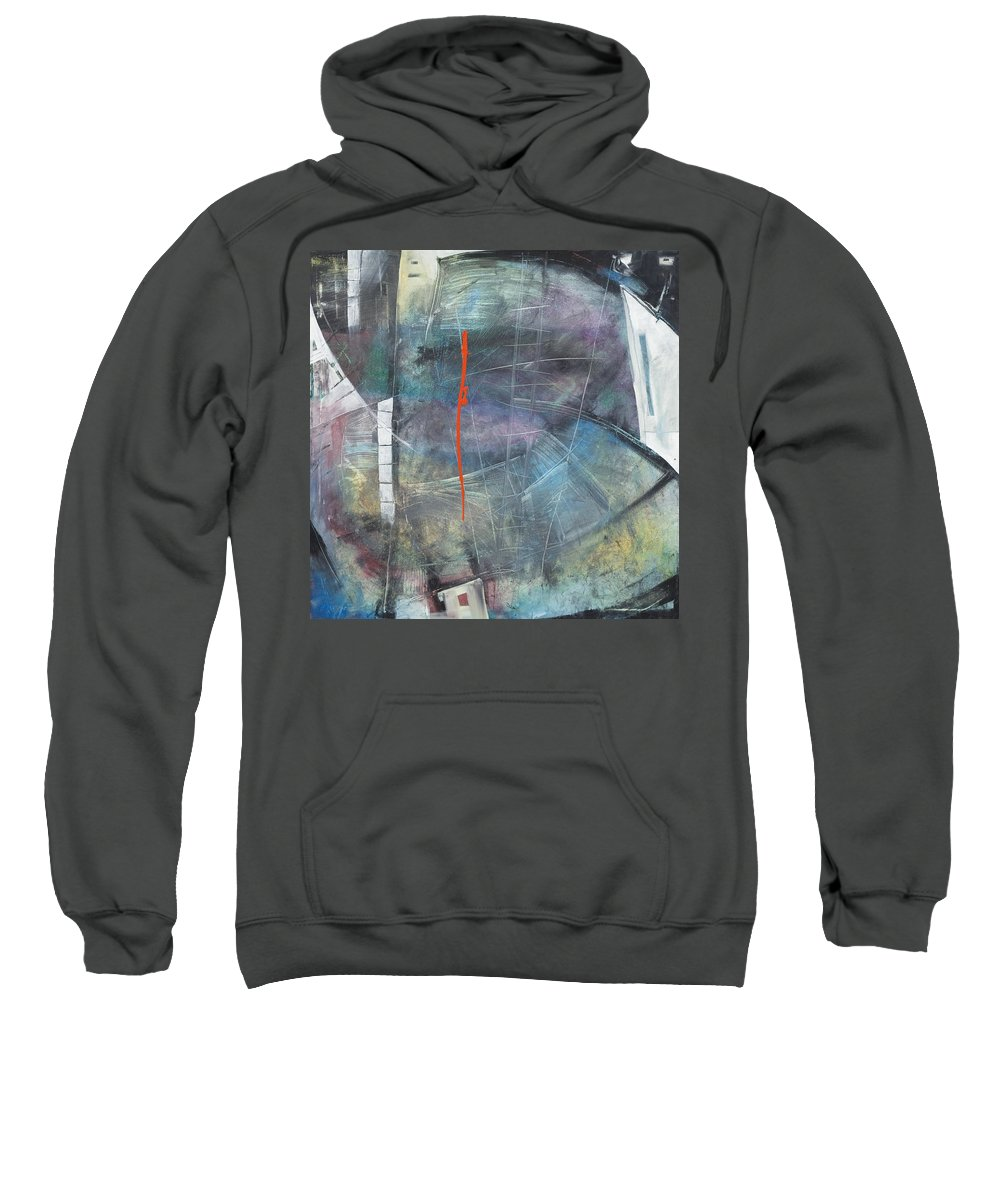 Abstract Sweatshirt featuring the painting La Mort Au Cirque by Tim Nyberg