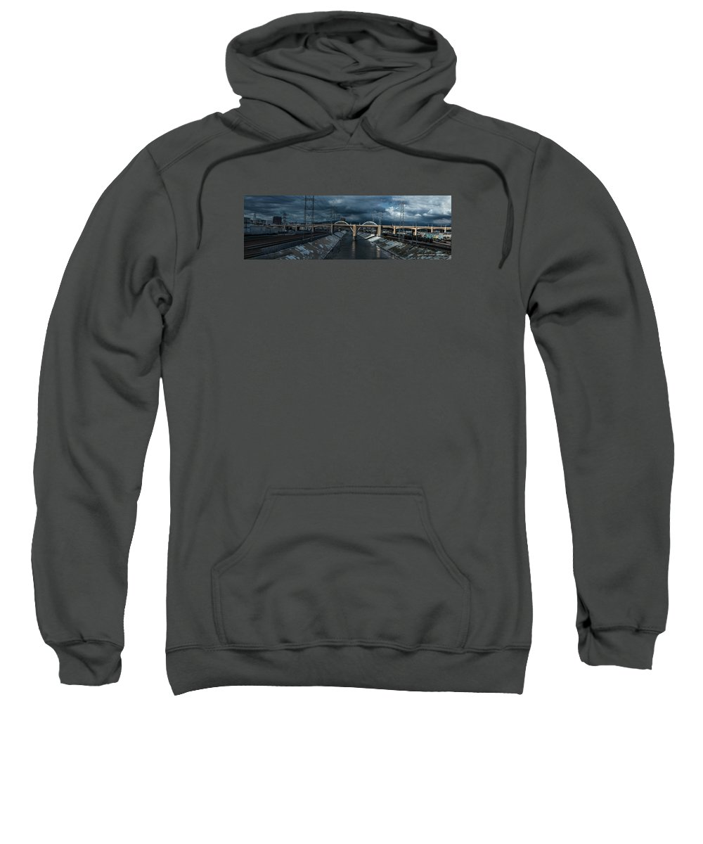 Iphone Cover Sweatshirt featuring the photograph Los Angeles River Autumn 2015 by Ralph King
