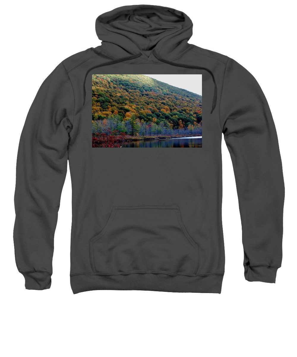 Digital Photograph Sweatshirt featuring the photograph Labrador Pond Hillside by David Lane