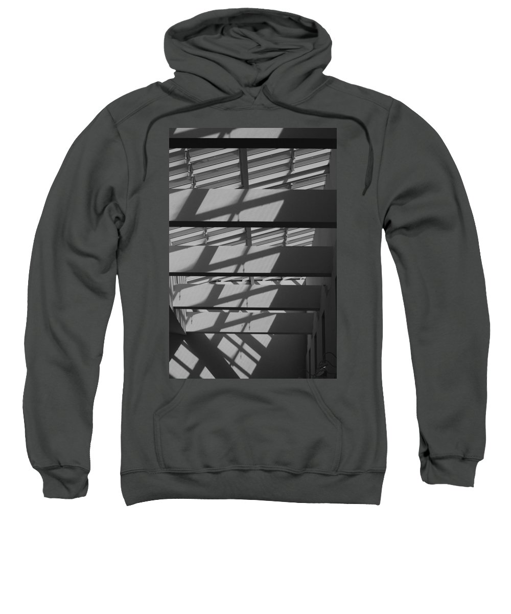 Black And White Sweatshirt featuring the photograph Ladders In The Sky by Rob Hans