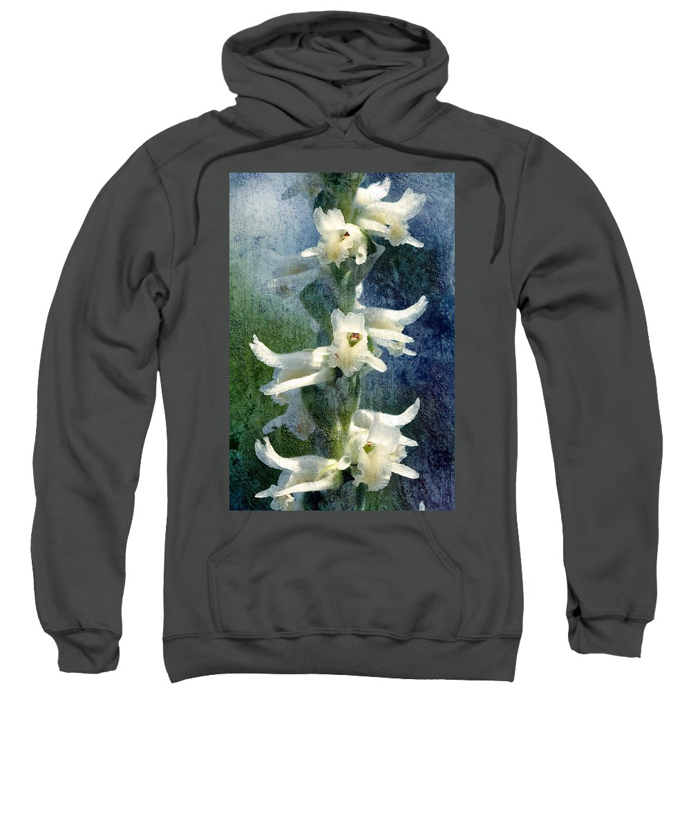 Orchid Sweatshirt featuring the photograph Ladies-tresses Orchid by Rich Leighton