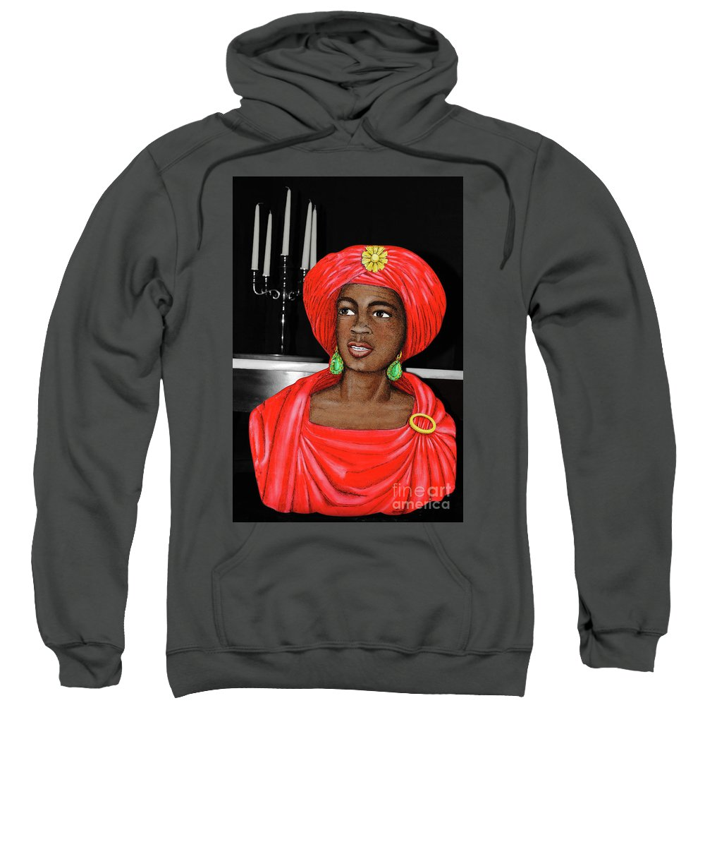 Candelabra Sweatshirt featuring the photograph Lady At The Candelabra by Jost Houk