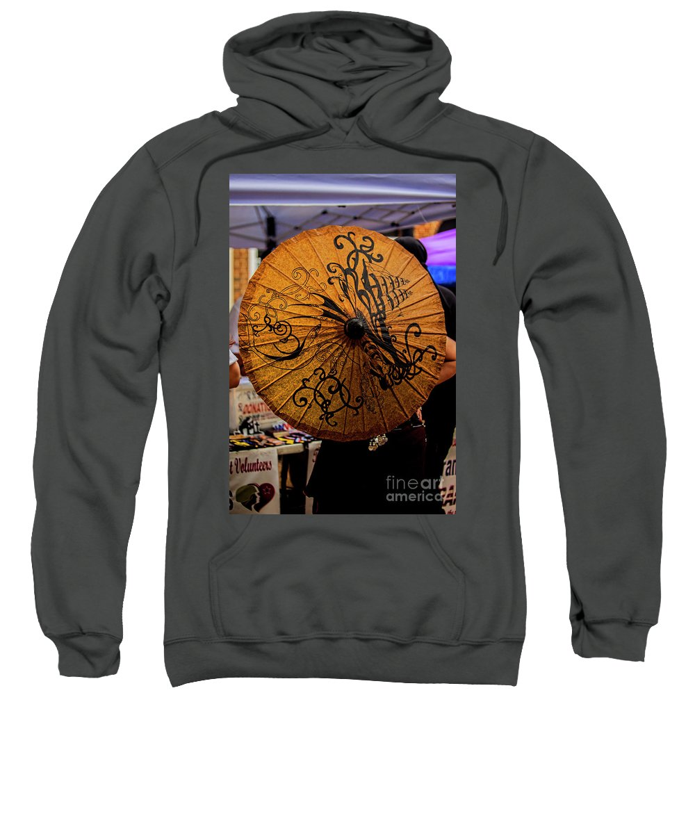 Parasol Sweatshirt featuring the photograph Lady Behind Parasol by Doug Berry