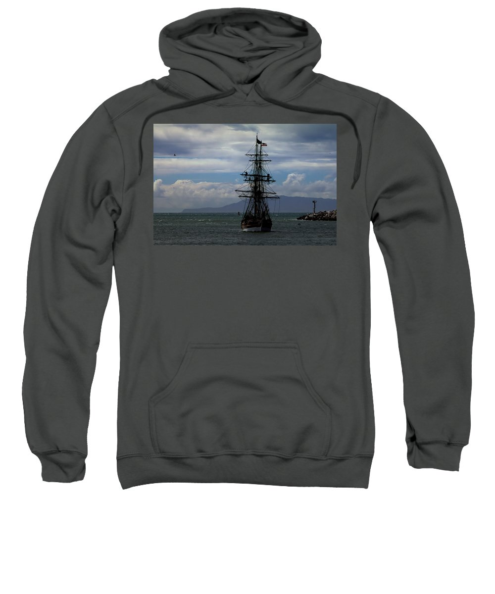 Tall Ship. Lady Washington Sweatshirt featuring the photograph Lady Washington-1 by Michael Gordon