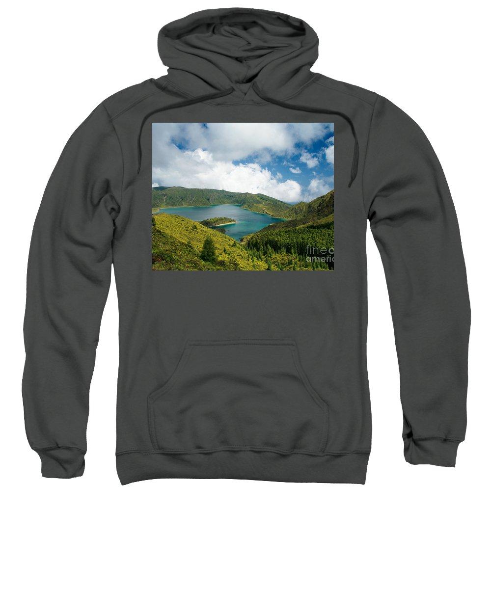 Lagoa Do Fogo Sweatshirt featuring the photograph Lagoa Do Fogo by Gaspar Avila