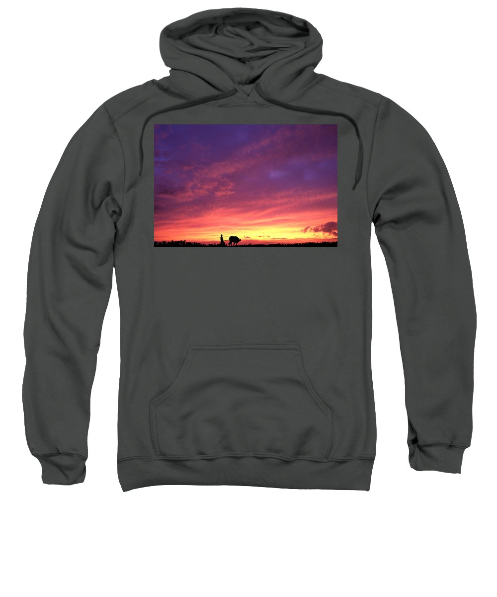 Sunset Sweatshirt featuring the photograph Laguna Sunset by George Cabig