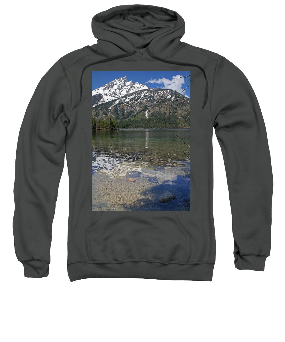 Grand Tetons Sweatshirt featuring the photograph Lake Jenny Grand Tetons by Heather Coen