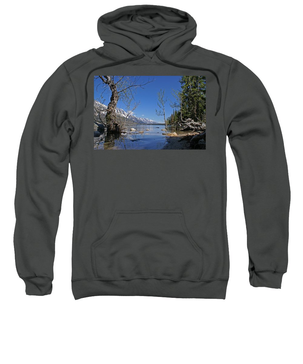 Lake Jenny Sweatshirt featuring the photograph Lake Jenny by Heather Coen
