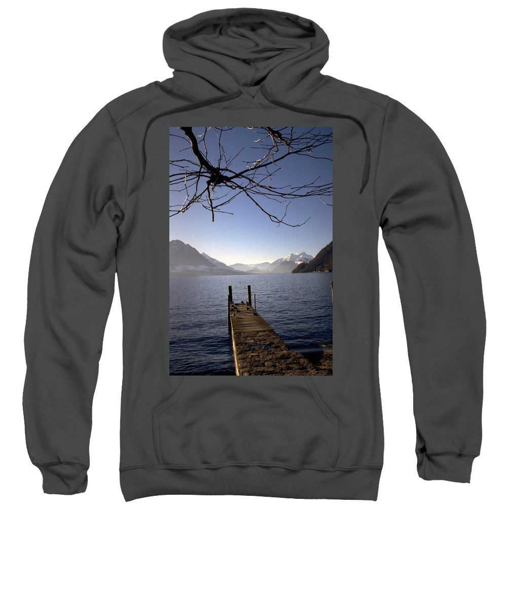 Lake Lucerne Sweatshirt featuring the photograph Lake Lucerne by Flavia Westerwelle