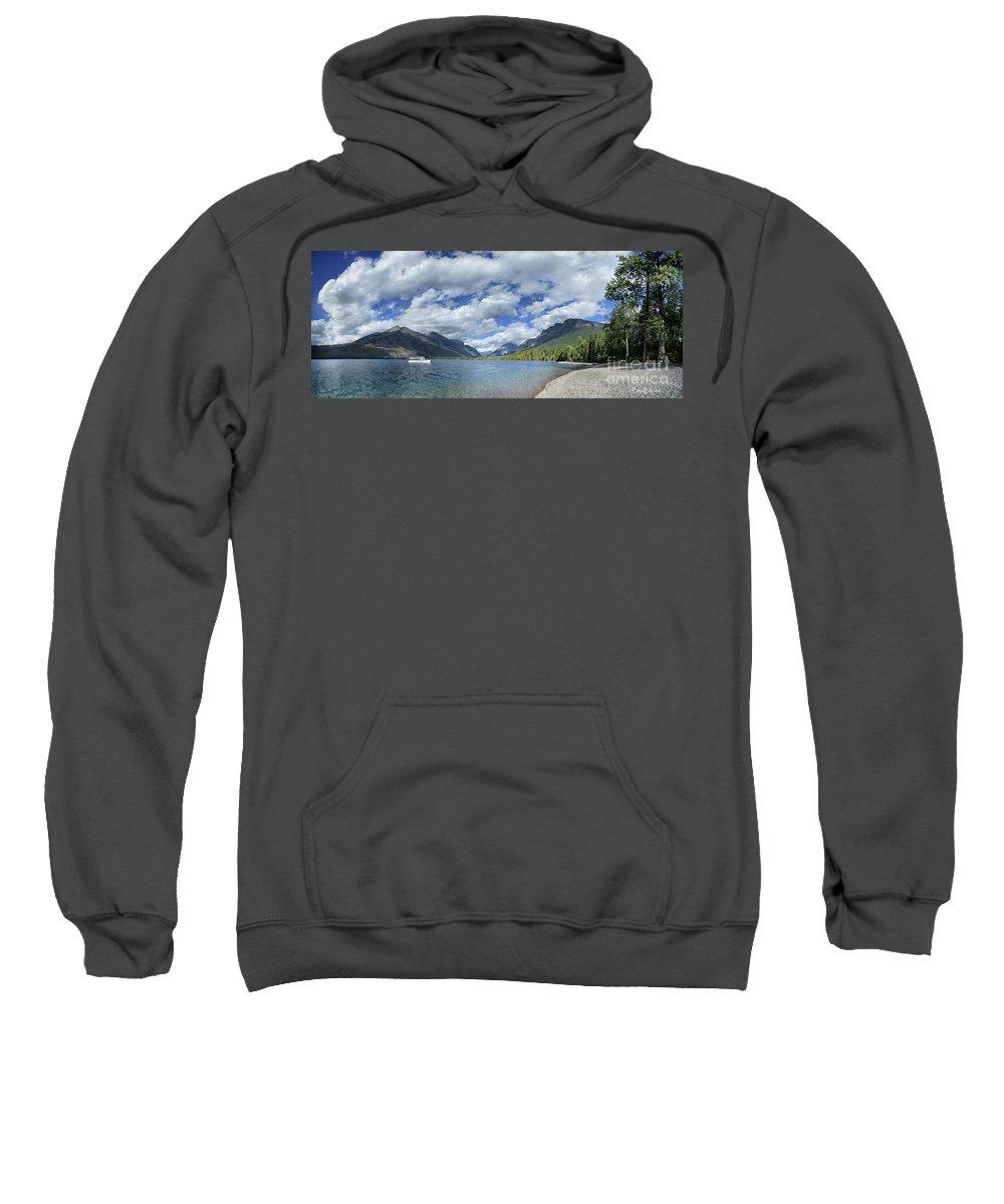 Glacier National Park Sweatshirt featuring the photograph Lake Mcdonald - Glacier National Park by Bruce Lemons