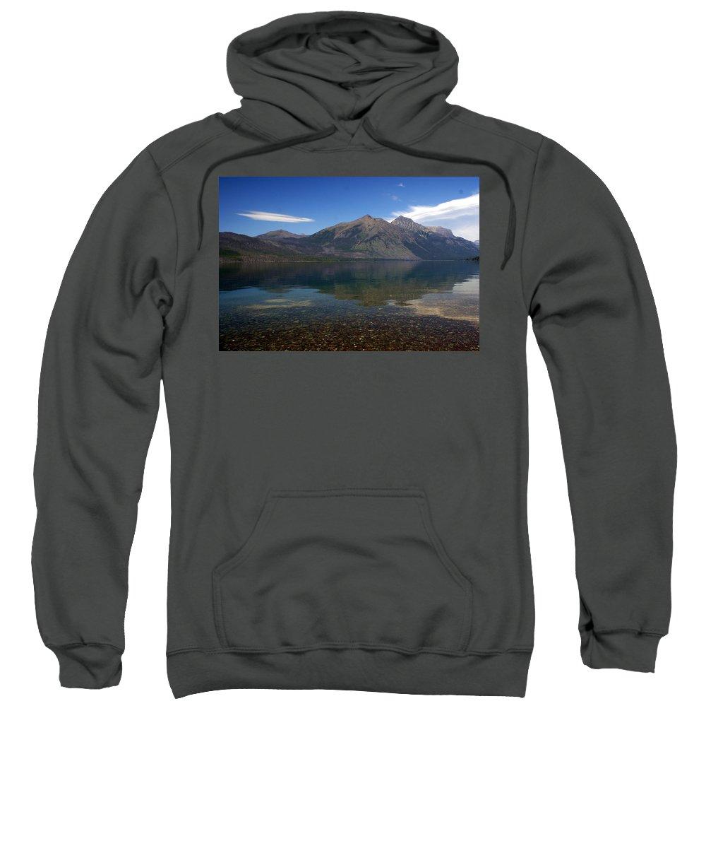 Landscape Sweatshirt featuring the photograph Lake Mcdonald Reflection Glacier National Park 2 by Marty Koch