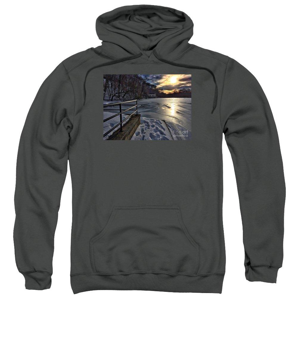 lake Roland Sweatshirt featuring the photograph Lake Roland Sunset by Doug Swanson