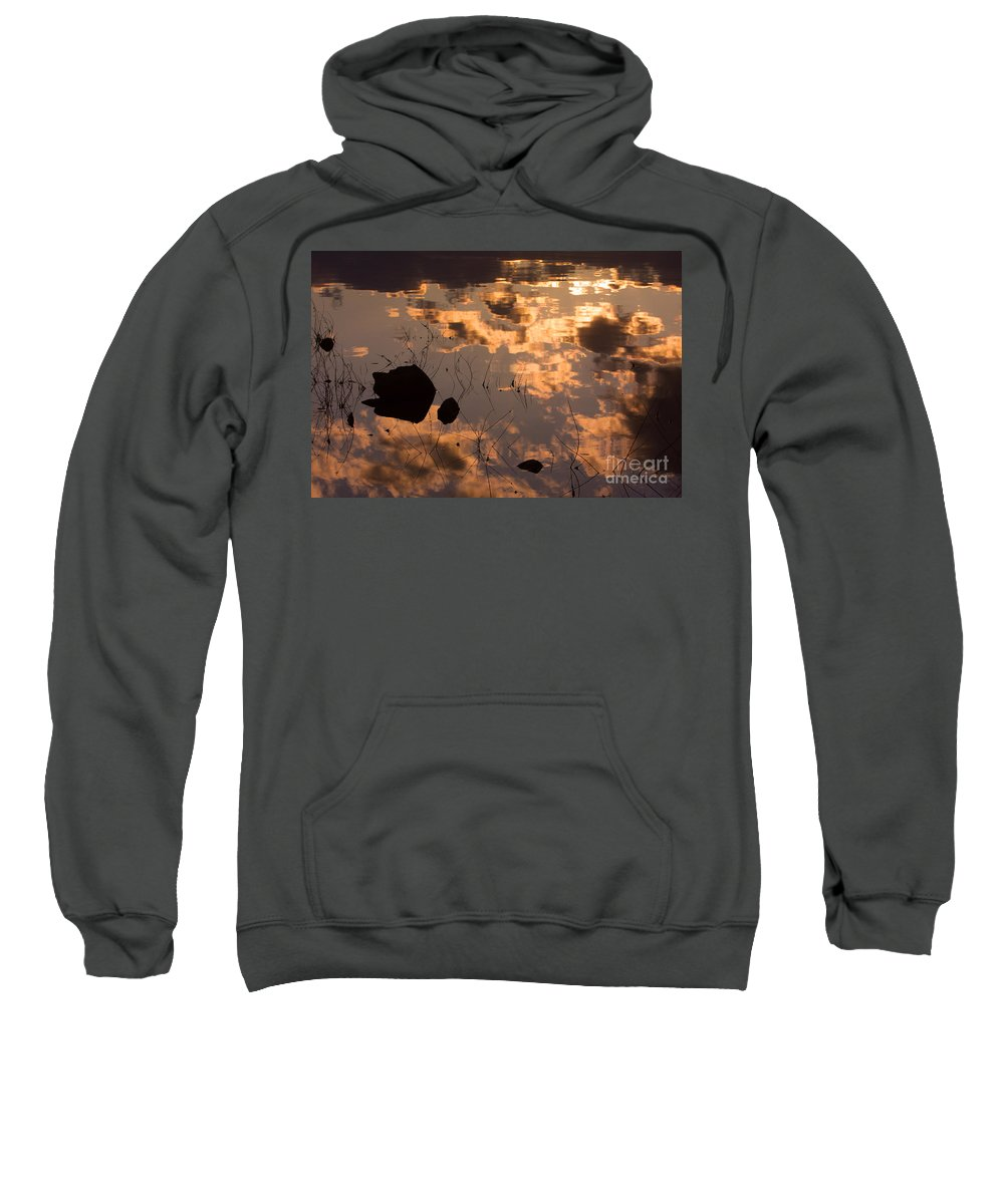 Sunrise Sweatshirt featuring the photograph Lake Sunset Reflections by James BO Insogna