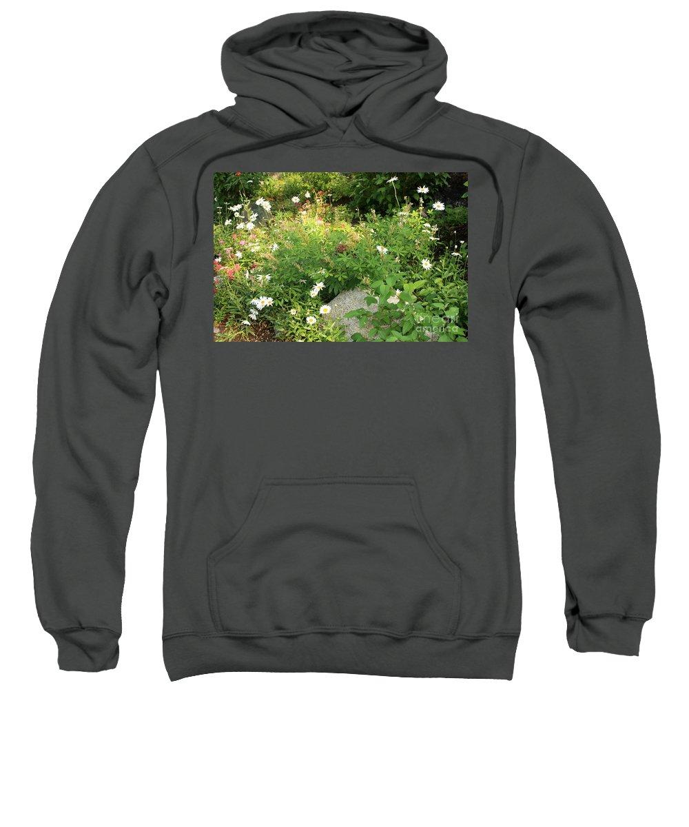 Lake Tahoe Sweatshirt featuring the photograph Lake Tahoe Flower Garden by Carol Groenen