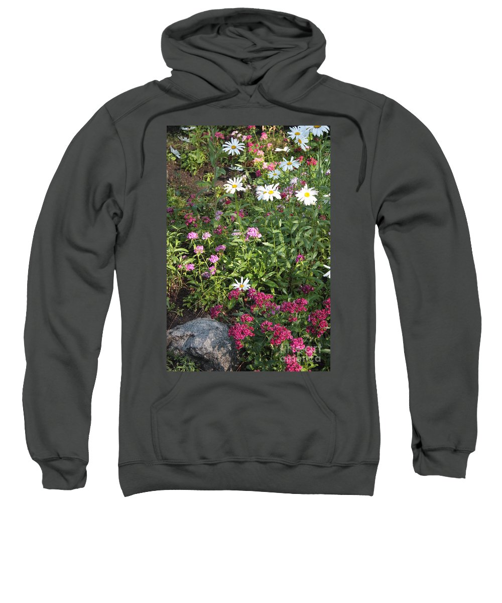 Garden Sweatshirt featuring the photograph Lake Tahoe Garden by Carol Groenen