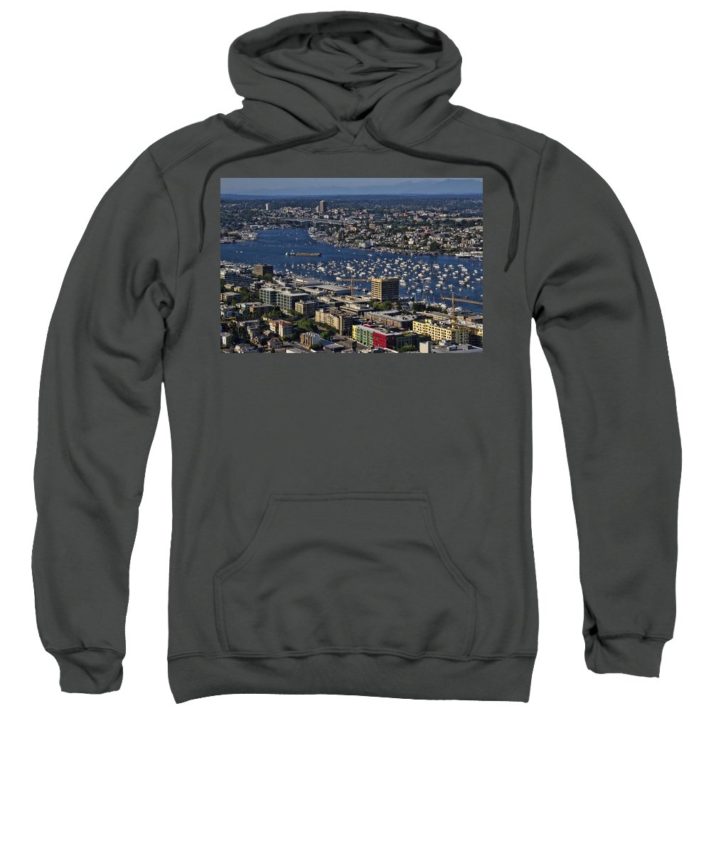 Lake Sweatshirt featuring the photograph Lake Union Seattle by Debby Richards