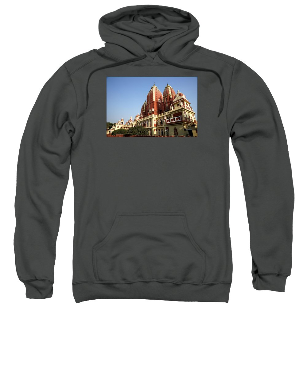 Lakshmi Sweatshirt featuring the photograph Lakshmi Narayan Mandir by Jaime Pomares