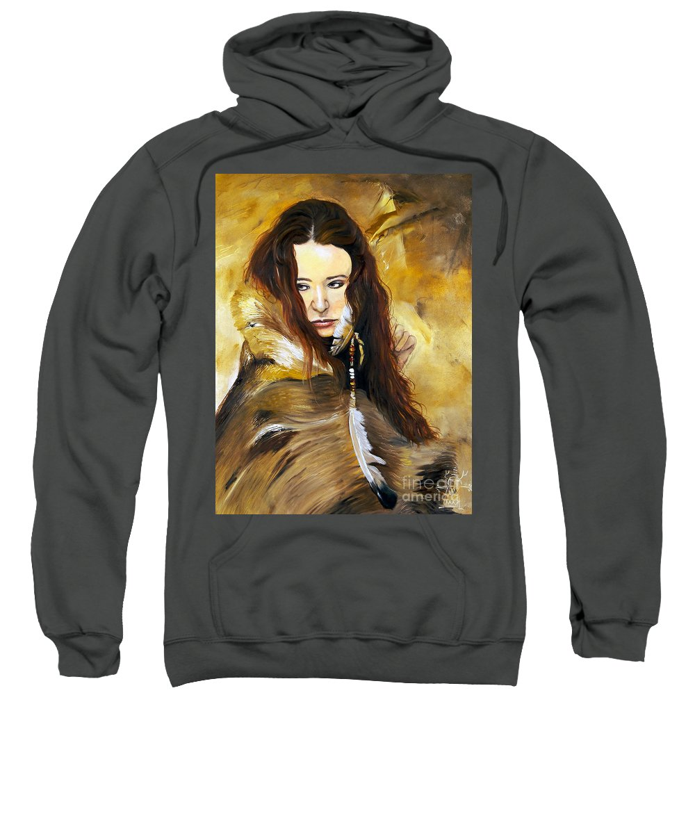 Southwest Art Sweatshirt featuring the painting Lament by J W Baker