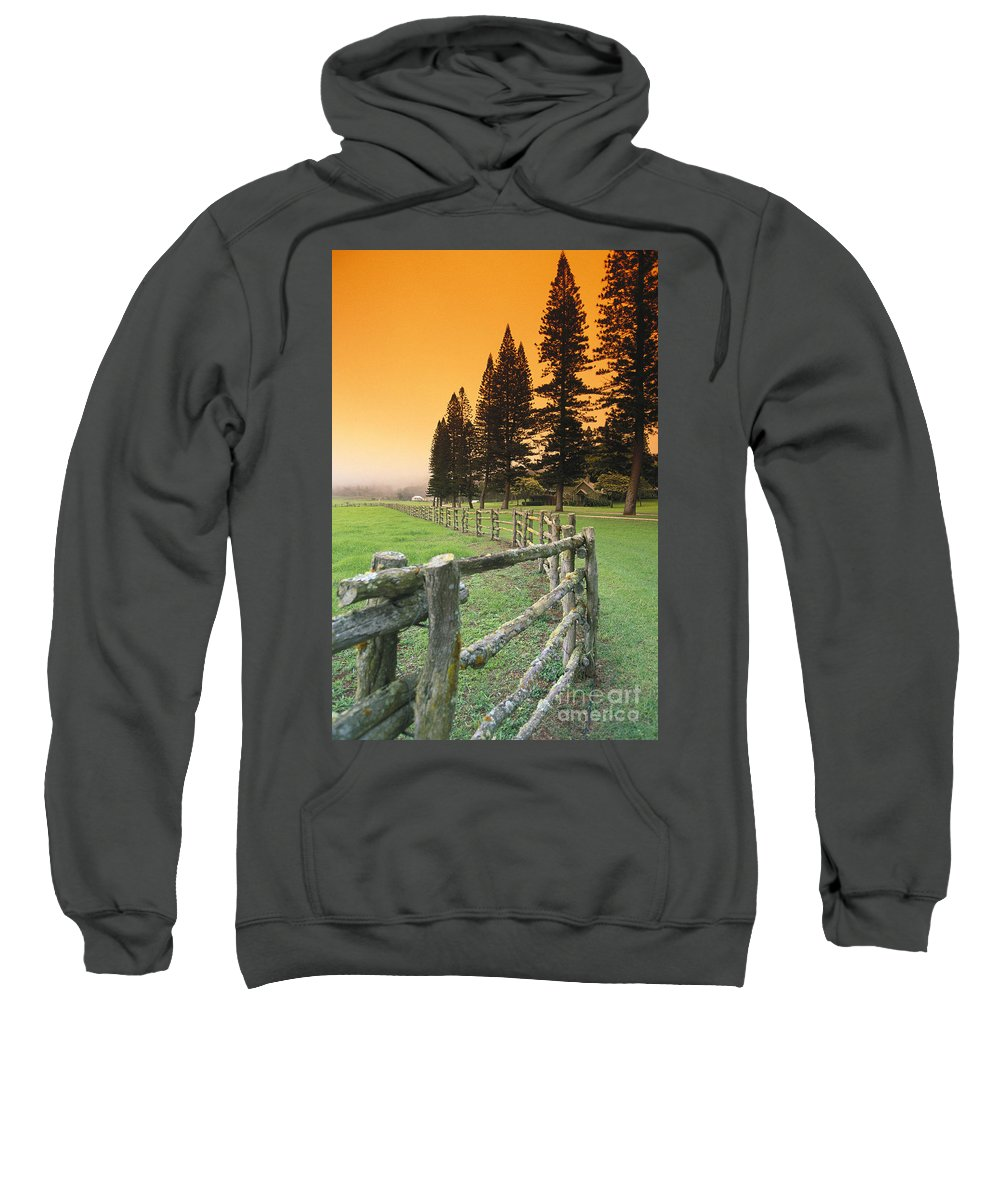 Across Sweatshirt featuring the photograph Lanai, City View by Ron Dahlquist - Printscapes
