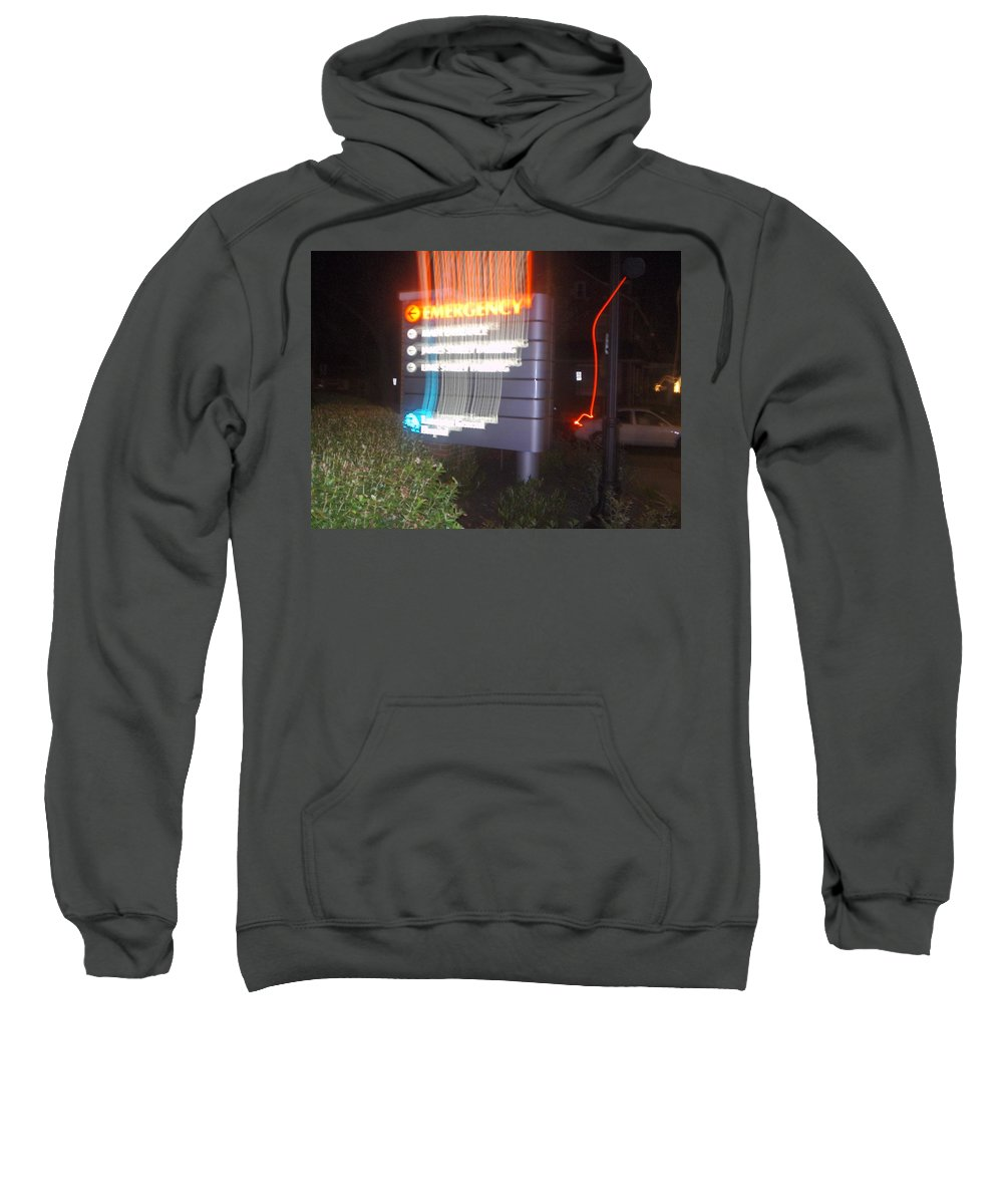 Photograph Sweatshirt featuring the photograph Lancaster Genral Emergency Room by Thomas Valentine