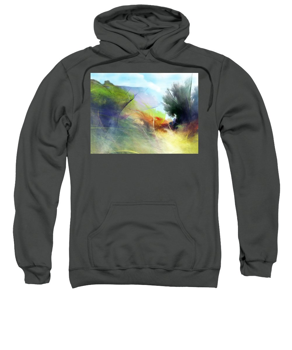 Digital Painting Sweatshirt featuring the digital art Landscape 02-05-10 by David Lane