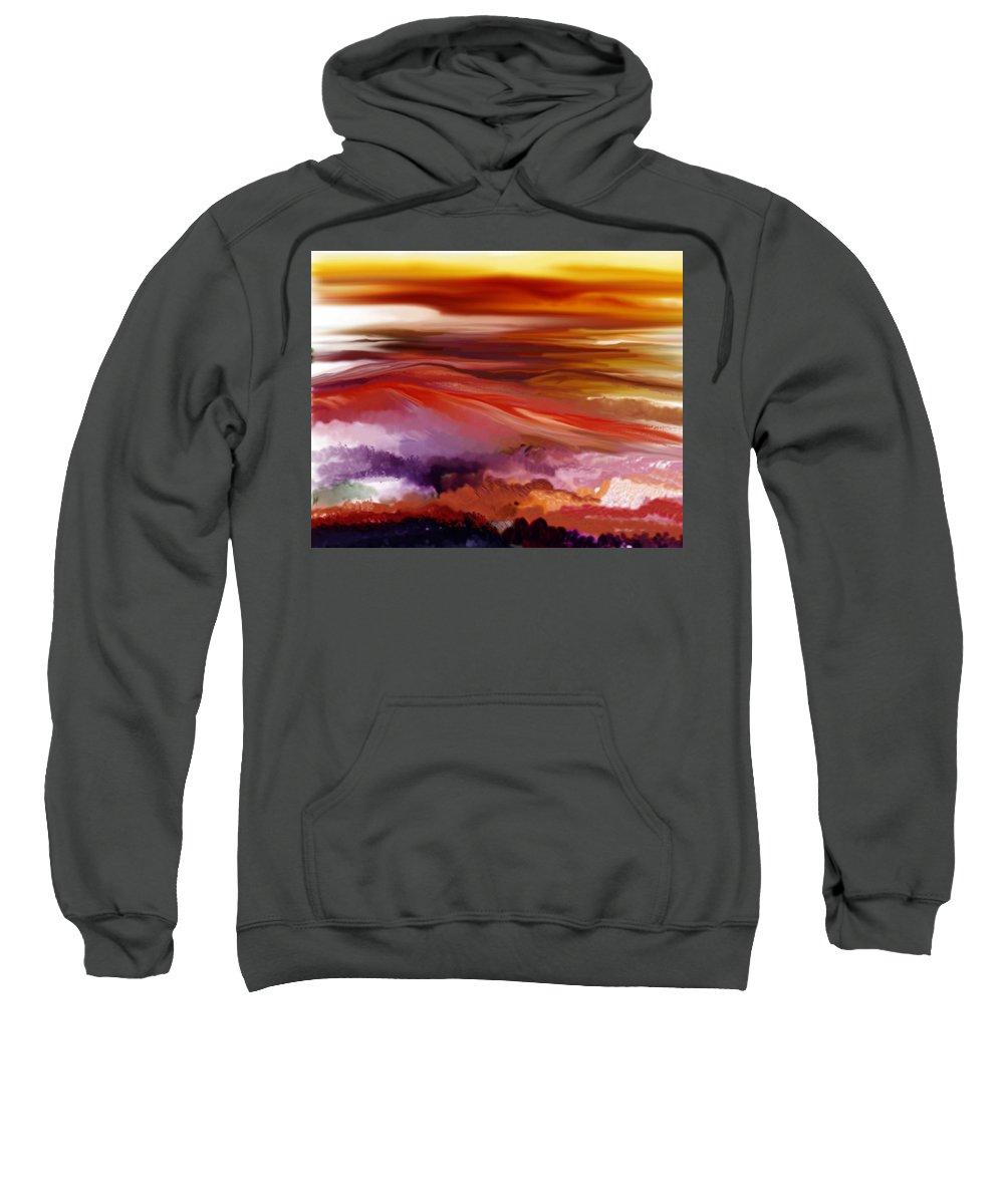 Landscape Sweatshirt featuring the digital art Landscape 022511 by David Lane