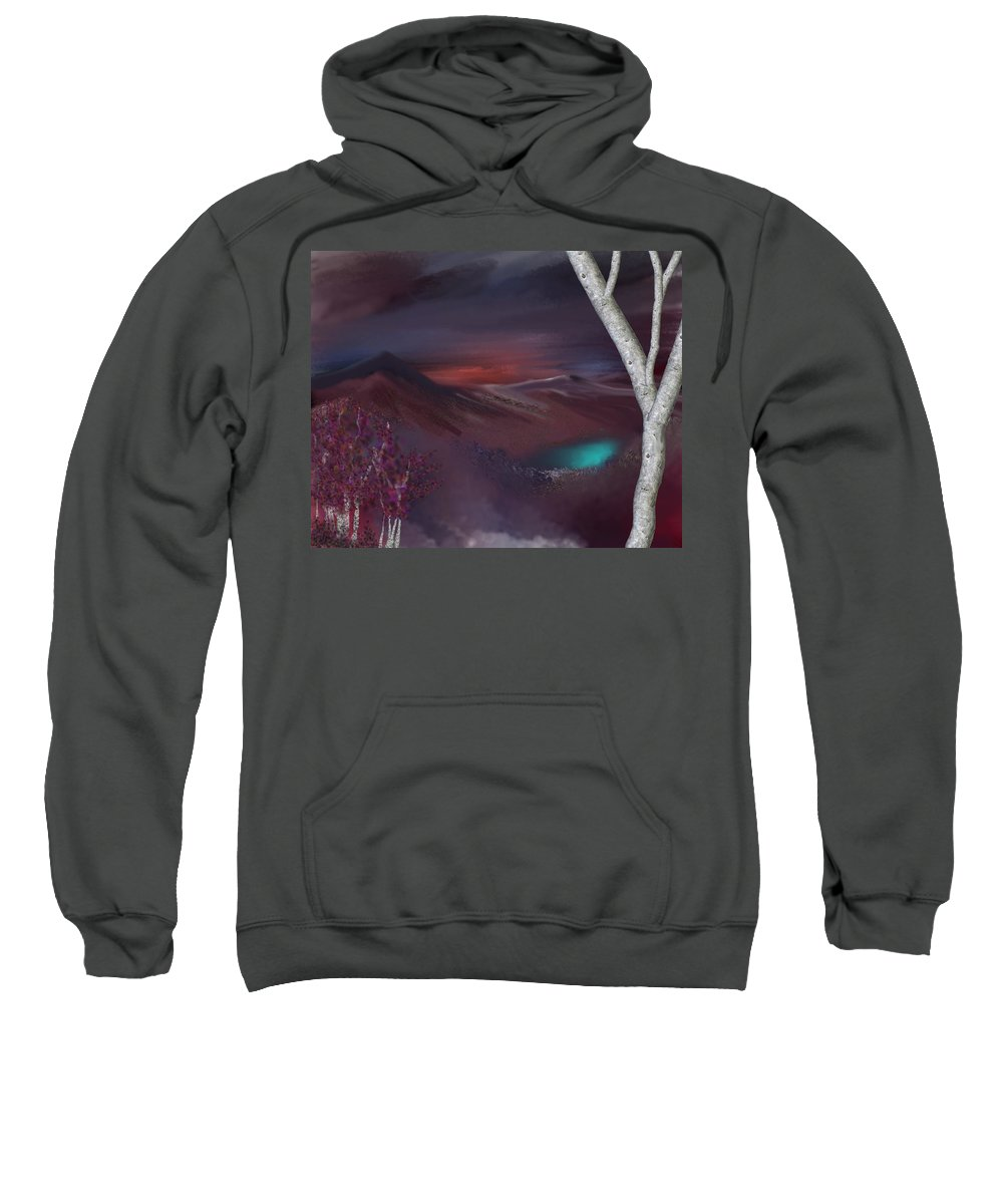 Fine Art Sweatshirt featuring the digital art Landscape 030711 by David Lane
